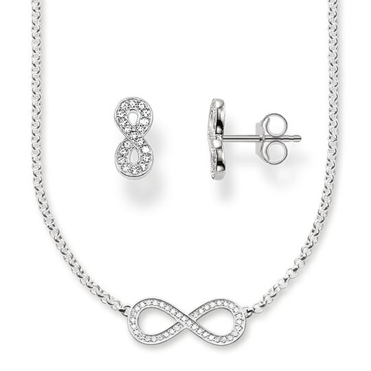 "Necklace & Ear studs ""Infinity"" from the Glam & Soul collection in the THOMAS SABO online store"