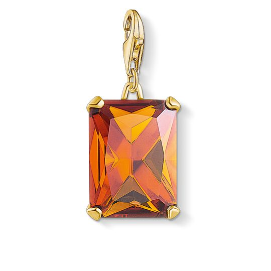 charm pendant large orange stone from the Charm Club collection in the THOMAS SABO online store