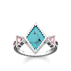 "ring ""zig zag turquoise"" from the Glam & Soul collection in the THOMAS SABO online store"