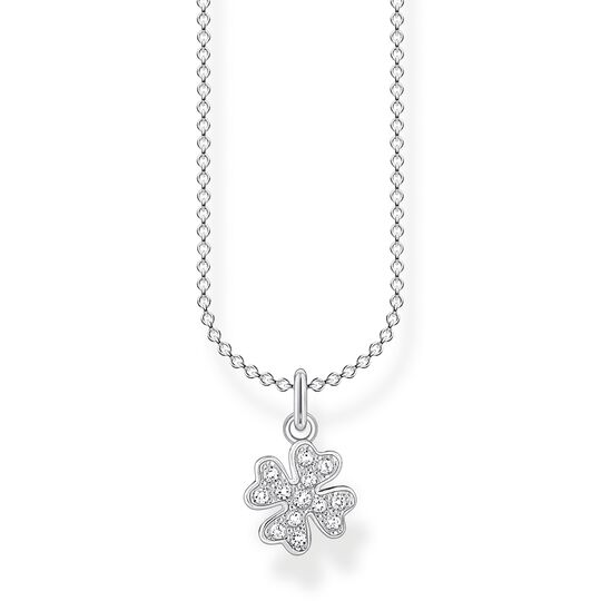 Necklace cloverleaf pavé silver from the Charming Collection collection in the THOMAS SABO online store