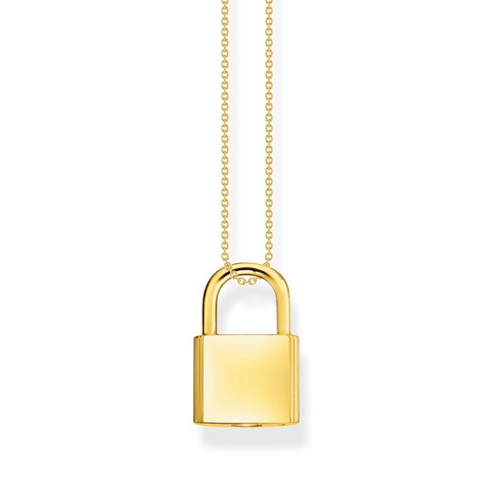 Necklace lock gold from the  collection in the THOMAS SABO online store