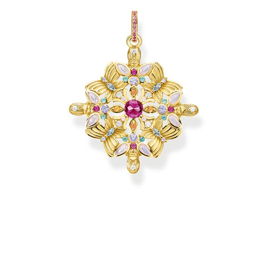 pendant amulet kaleidoscope butterfly gold from the Glam & Soul collection in the THOMAS SABO online store