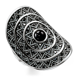 "ring ""black zig zag"" from the Glam & Soul collection in the THOMAS SABO online store"