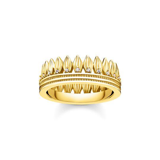 anillo hojas corona oro de la colección  en la tienda online de THOMAS SABO