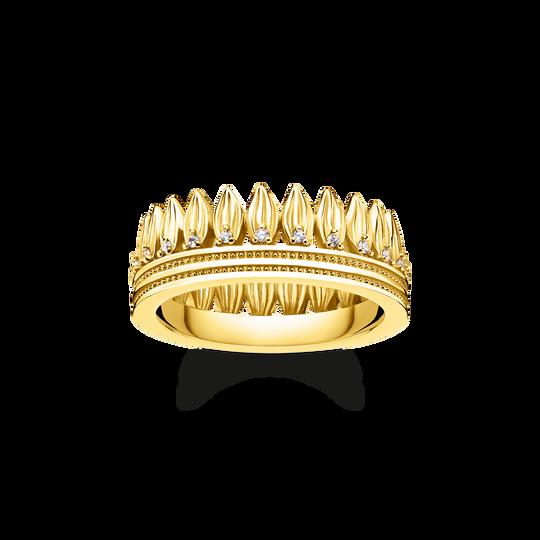 Ring Krone Blätter gold aus der Glam & Soul Kollektion im Online Shop von THOMAS SABO