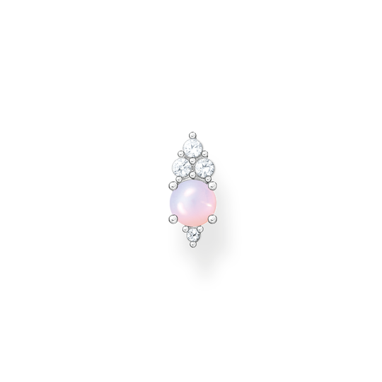 Single ear stud vintage shimmering pink opal colour effect from the Charming Collection collection in the THOMAS SABO online store