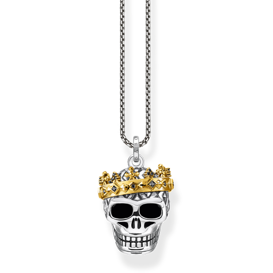 Necklace skull crown from the Rebel at heart collection in the THOMAS SABO online store