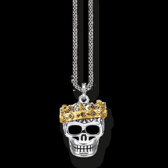 Chaîne tête de mort couronne de la collection Rebel at heart dans la boutique en ligne de THOMAS SABO