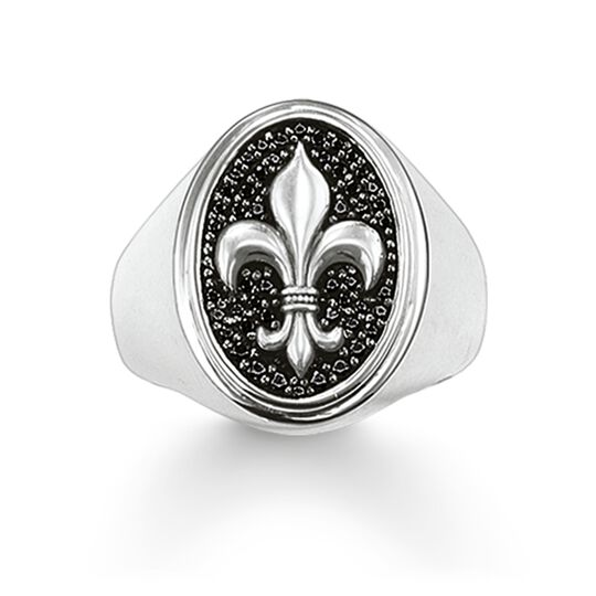 """signet ring """"fleur-de-lis"""" from the Rebel at heart collection in the THOMAS SABO online store"""