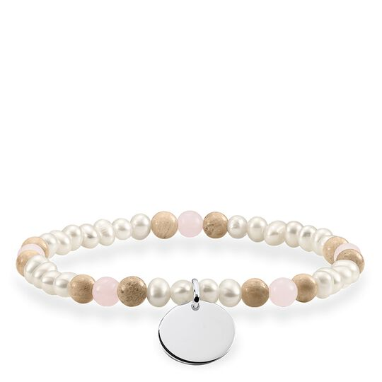 "bracelet ""Brown, white disc"" from the Love Bridge collection in the THOMAS SABO online store"