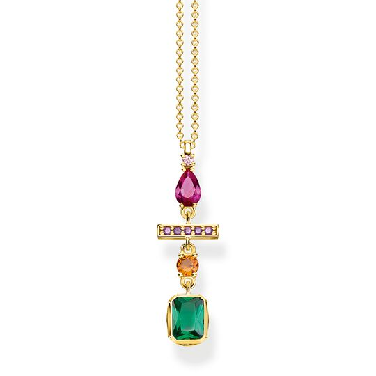 necklace Colourful mix of forms, gold from the Glam & Soul collection in the THOMAS SABO online store