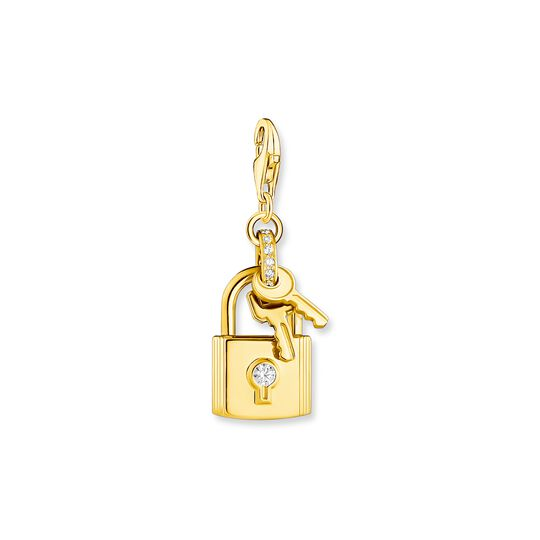 Charm pendant lock with key gold from the Charm Club collection in the THOMAS SABO online store