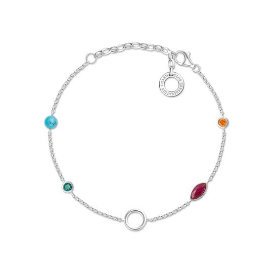 Charm bracelet coloured stones from the Charm Club collection in the THOMAS SABO online store
