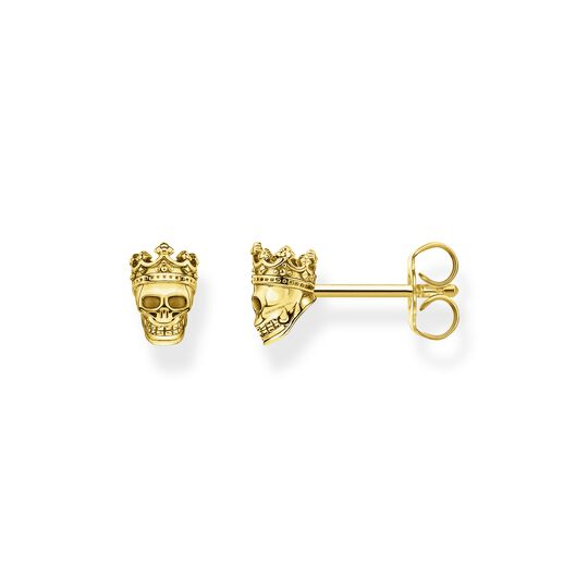 Ear studs skull King gold from the  collection in the THOMAS SABO online store