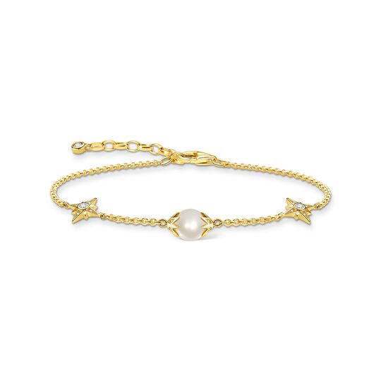 Bracelet pearl with stars gold from the  collection in the THOMAS SABO online store
