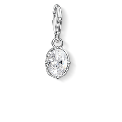 Charm pendant white stone from the  collection in the THOMAS SABO online store