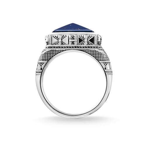 """ring """"Ethnic Skulls blue"""" from the Rebel at heart collection in the THOMAS SABO online store"""