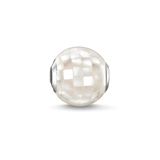 "Bead ""white mother-of-pearl"" from the Karma Beads collection in the THOMAS SABO online store"