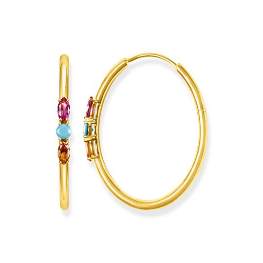 hoop earrings royalty colourful stones from the  collection in the THOMAS SABO online store