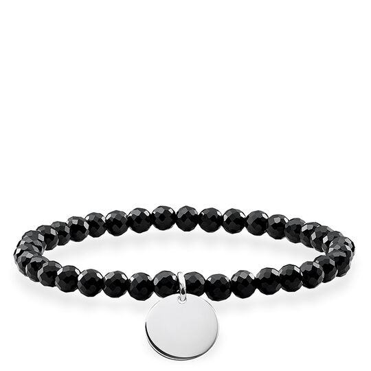 bracelet black coin from the Love Bridge collection in the THOMAS SABO online store