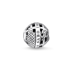 "Bead ""Globe terrestre noir"" de la collection Karma Beads dans la boutique en ligne de THOMAS SABO"