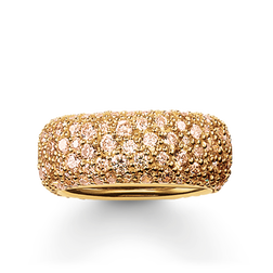band ring crushed pavé from the Glam & Soul collection in the THOMAS SABO online store