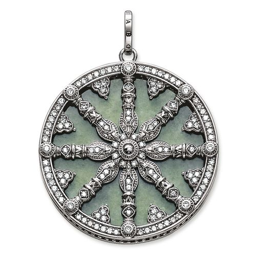 "pendant ""Karma Wheel with aventurine disc"" from the Karma Beads collection in the THOMAS SABO online store"