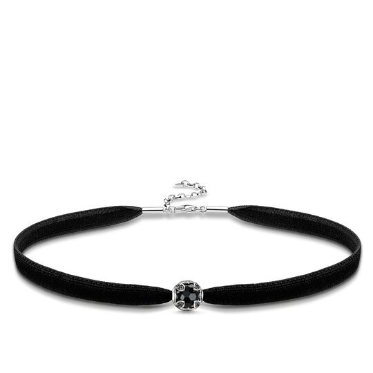 Choker lotus noir de la collection Glam & Soul dans la boutique en ligne de THOMAS SABO
