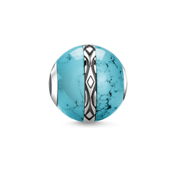 "Bead ""ornament turquoise"" from the Karma Beads collection in the THOMAS SABO online store"