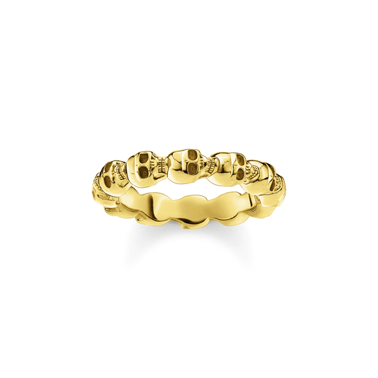 Ring skull gold from the Rebel at heart collection in the THOMAS SABO online store