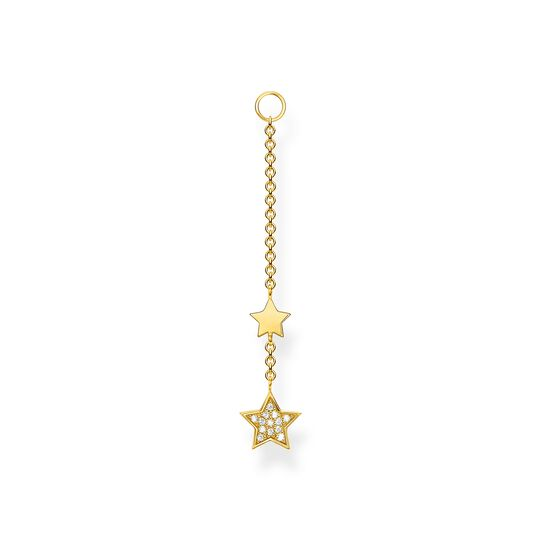 Single ear pendant stars gold from the Charming Collection collection in the THOMAS SABO online store