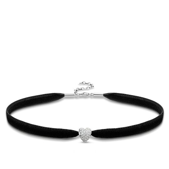 "Choker ""white pavé heart"" from the Glam & Soul collection in the THOMAS SABO online store"