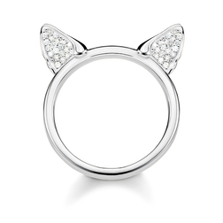 anello Orecchie di gatto argento from the Glam & Soul collection in the THOMAS SABO online store