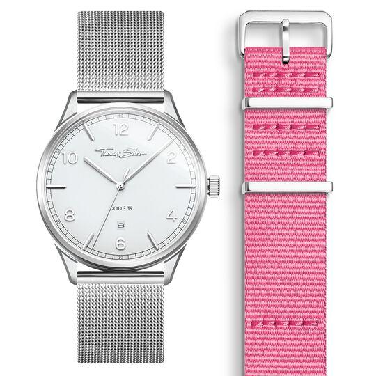 SET CODE TS weiße Uhr & pinkes Armband aus der  Kollektion im Online Shop von THOMAS SABO