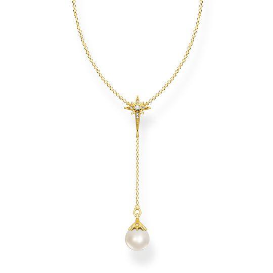 Cadena perla estrella oro de la colección  en la tienda online de THOMAS SABO