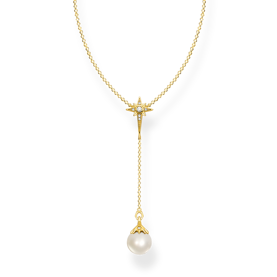 Kette Perle mit Stern gold aus der Glam & Soul Kollektion im Online Shop von THOMAS SABO