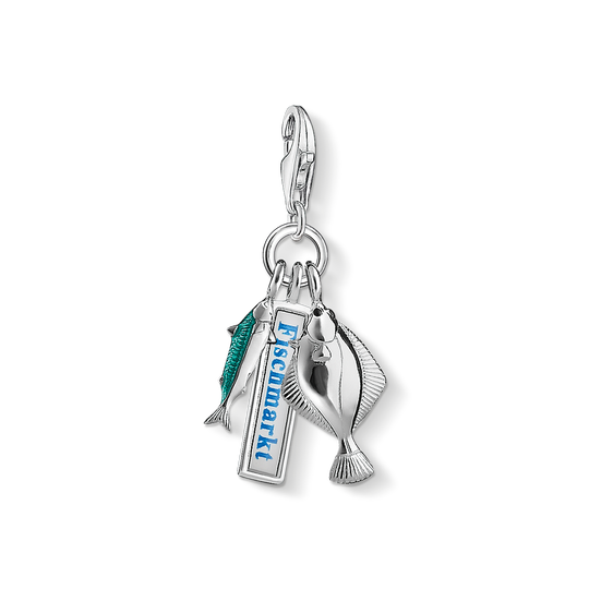 Charm pendant Hamburg fish market from the Charm Club collection in the THOMAS SABO online store