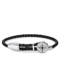 bracelet cuir Croix de la collection Rebel at heart dans la boutique en ligne de THOMAS SABO