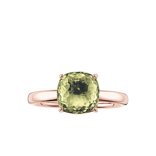 solitair ring green from the Glam & Soul collection in the THOMAS SABO online store