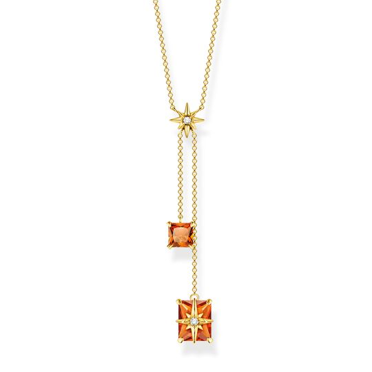 Necklace orange stones with star from the  collection in the THOMAS SABO online store