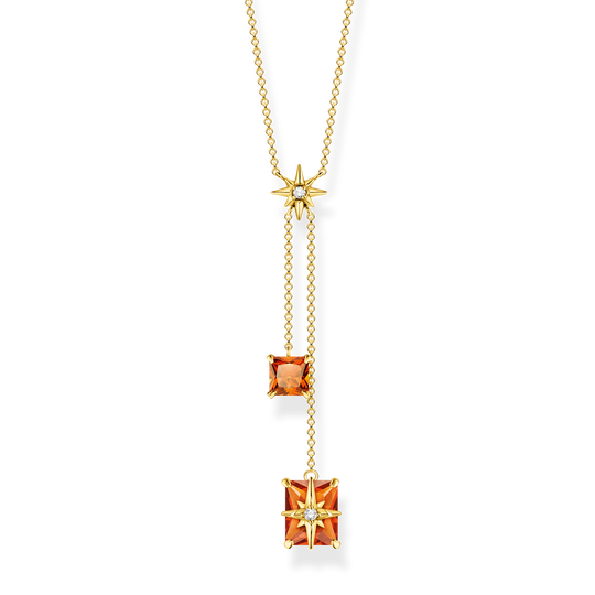 Necklace orange stones with star from the Glam & Soul collection in the THOMAS SABO online store