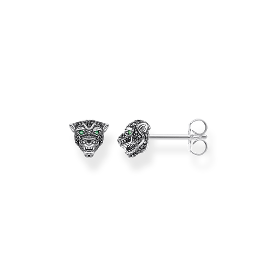 ear studs Black cat from the Rebel at heart collection in the THOMAS SABO online store