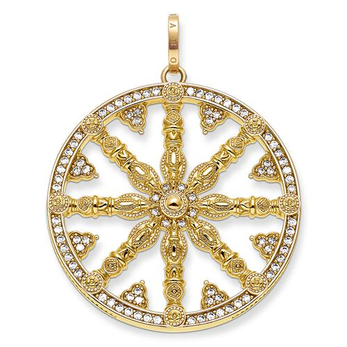 """pendant """"Karma Wheel pavé"""" from the Karma Beads collection in the THOMAS SABO online store"""