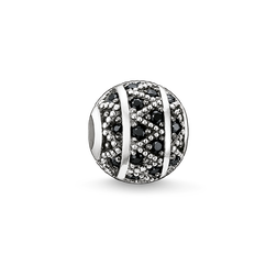 Bead black zig zag from the Karma Beads collection in the THOMAS SABO online store