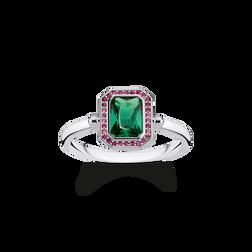 Ring Steine Rot & Grün silber aus der Glam & Soul Kollektion im Online Shop von THOMAS SABO