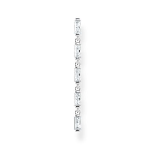 Single earring white stones, silver from the Charming Collection collection in the THOMAS SABO online store