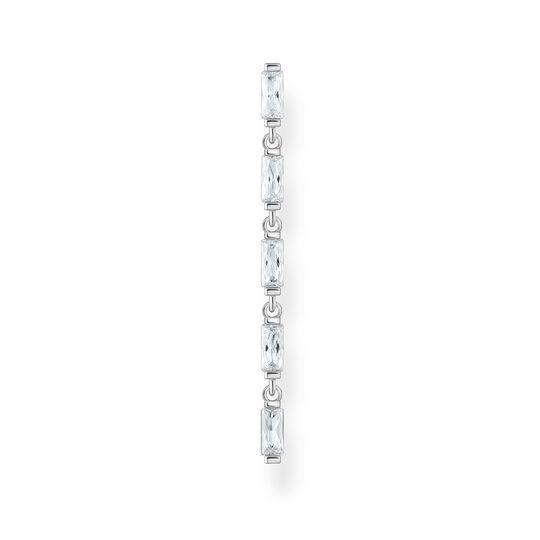 Einzel Ohrring weiße Steine silber aus der Charming Collection Kollektion im Online Shop von THOMAS SABO