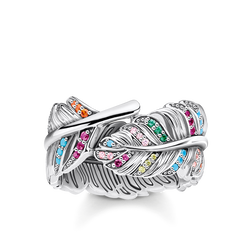 ring feather silver from the Glam & Soul collection in the THOMAS SABO online store