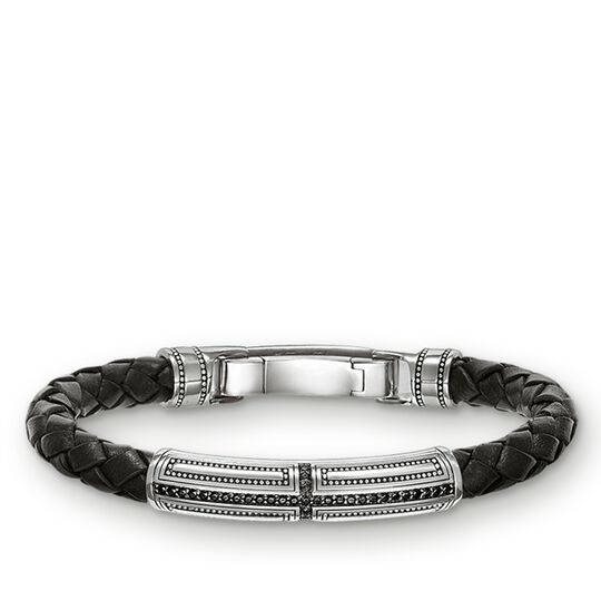 leather bracelet cross from the Rebel at heart collection in the THOMAS SABO online store