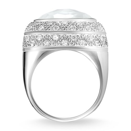 """cocktail ring """"white zig zag"""" from the Glam & Soul collection in the THOMAS SABO online store"""